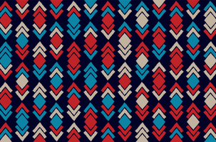 Tribal and Ethnic Ikat Fabric Pattern