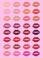 conjunto de fondo de labios de mujer vector