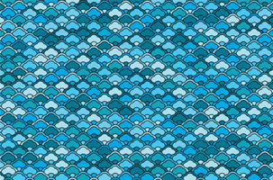 Blue color Chinese waves pattern vector