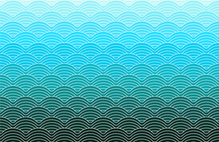Blue color geometric waves pattern vector