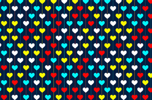 Valentine day colorful hearts pattern