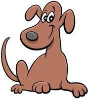 caricatura, perro divertido, cómico, animal, carácter vector
