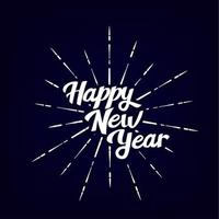 Happy New Year vintage lettering text