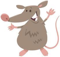 divertido, rata, roedor, animal, carácter vector
