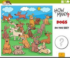 cuántos perros juego educativo para niños vector