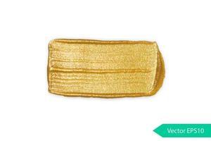 Golden acrylic brush stroke stain