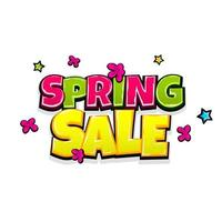 Comic text advertise spring sale