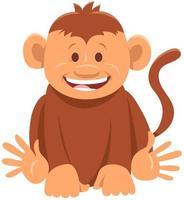 cute monkey comic animal cartoon character vector