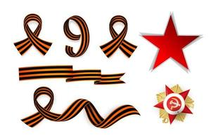 9 may Victory day holiday banner star