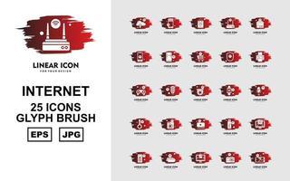 25 Premium Internet Of Things Glyph Brush Icon Pack