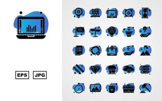25 Premium Business Glyph Bubble Icon Pack vector