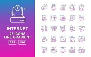 25 Premium Internet Of Things Line Gradient Icon Pack vector