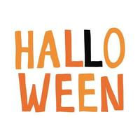 halloween word flat style icon vector