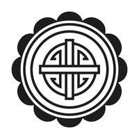 chinese symbol seal stamp black vector design
