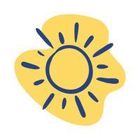 summer sun line style icon