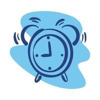 icono de estilo de línea de reloj de alarma vector