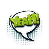 colección de texto cómico efectos de sonido estilo pop art vector
