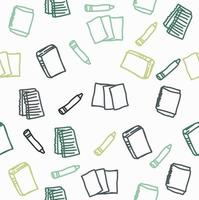 Hand drawn books icon vector seamless pattern