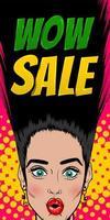 Seasonal sale woman pop art vintage poster