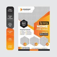 geometric real estate brochure design template. vector