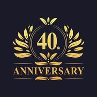 Diseño del 40 aniversario vector