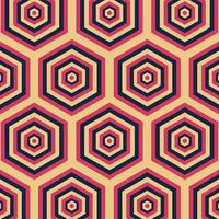 Retro geometric pattern vector, abstract retro background pattern. vector