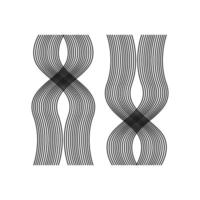 Abstract minimal pattern vector illustration, hair pattern