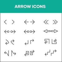 Icon sets assorted directional arrows vector