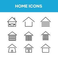 conjunto de iconos de colección de inicio vector