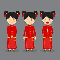 Female Asian Character with Various Expressions