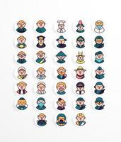 Profession icon pack lineal style vector