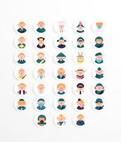 Profession icon pack color style vector