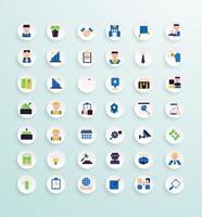 estilo de color del paquete de iconos de negocios vector