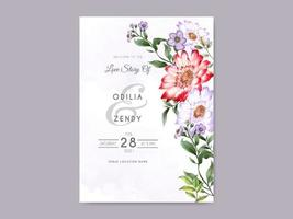 beautiful and elegant floral wedding invitation template