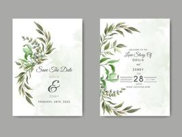 beautiful and elegant floral wedding save the date template