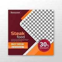 Food Social media Post vector