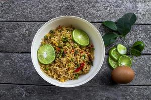 Asian noodles food in a bowl photo
