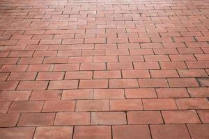 Red brick flooring