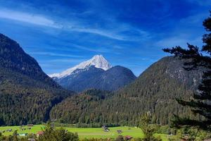 Karwendel Mountains on beautiful sunny day