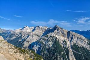 Panorama Karwendel Mountains on a beautiful sunny day