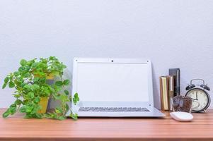 Laptop on the office desk