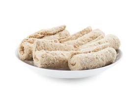 Plate of sweet rolls photo