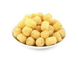 Close-up of yellow puffs photo