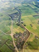 aerial photograph of village