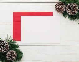feliz navidad tarjeta de felicitación y plantilla de maqueta de sobre