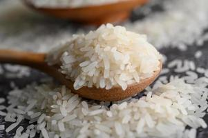Close-up of milled rice in bowls