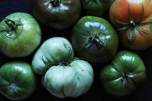 Assorted green tomatoes