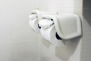 rollos de papel higiénico foto