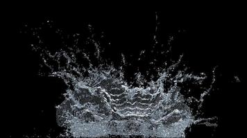 Water splashing on black background
