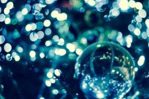Christmas lights defocus background photo